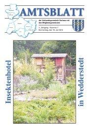 Amtsblatt vom 19. Juli 2012 - Verbandsgemeinde Vorharz