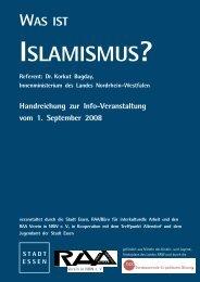 WAS IST ISLAMISMUS? Handreichung zur Info ... - Essen