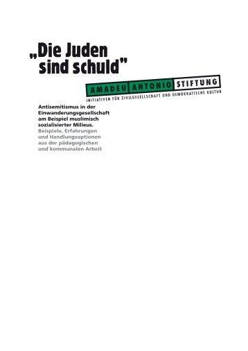 """""""Die Juden sind schuld"""" - Antisemitismus - Amadeu Antonio Stiftung"""