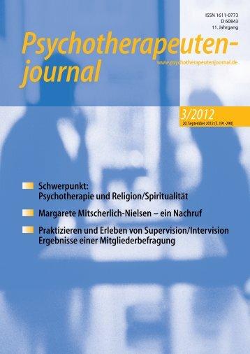 3/2012 - Psychotherapeutenjournal