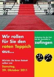 Wir rollen für Sie den roten Teppich aus... - regiolive.ch