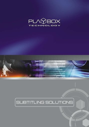 Subtitling Solutions by PlayBox Technology