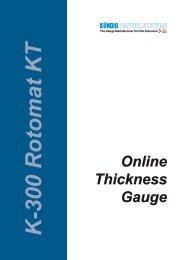 K-300 Rotomat KT Online Thickness Gauge - Hch. Kündig & Cie AG