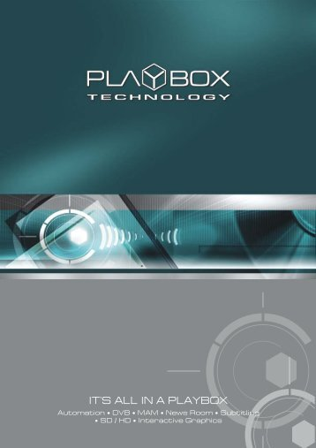 PlayBox Technology Product Families