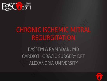 Mitral valve surgery for chronic ischemic mitral ... - cardioegypt2011