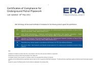 Certificates of Compliance for Underground Petrol Pipework