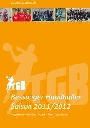 Bessunger Handballer Saison 2011/2012 - TGB 1865 Darmstadt