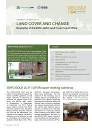 land cover and change - GOFC-GOLD LC-IT Office - Wageningen UR
