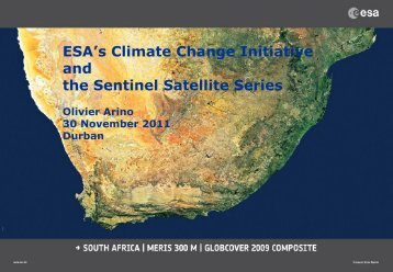 ESA's Climate Change Initiative and the Sentinel satellite