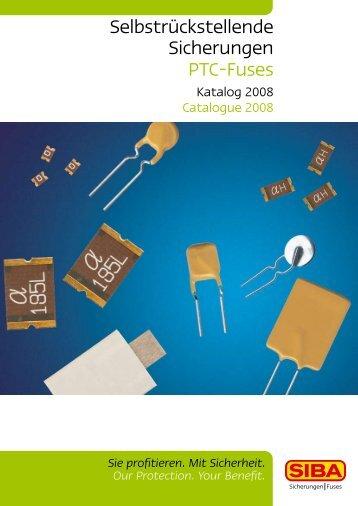 SIBA PTC Sub-Miniature Fuses Main Catalogue - Fuseco