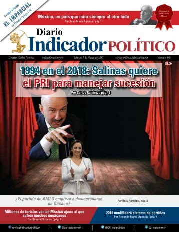 1994 en el 2018 Salinas quiere el PRI para manejar sucesión