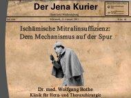 Der Jena Kurier - Klinik für Herz- und Thoraxchirurgie