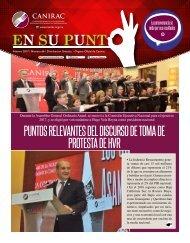 PUNTOS RELEVANTES DEL DISCURSO DE TOMA DE PROTESTA DE HVR