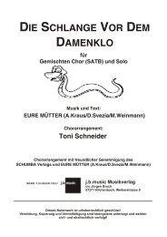 Die Schlange vor dem Damenklo (SATB + Solisten)