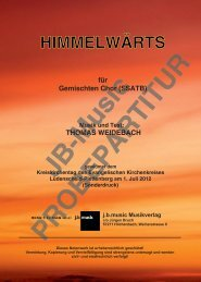 Himmelwärts (für gemischten Chor SSATB)