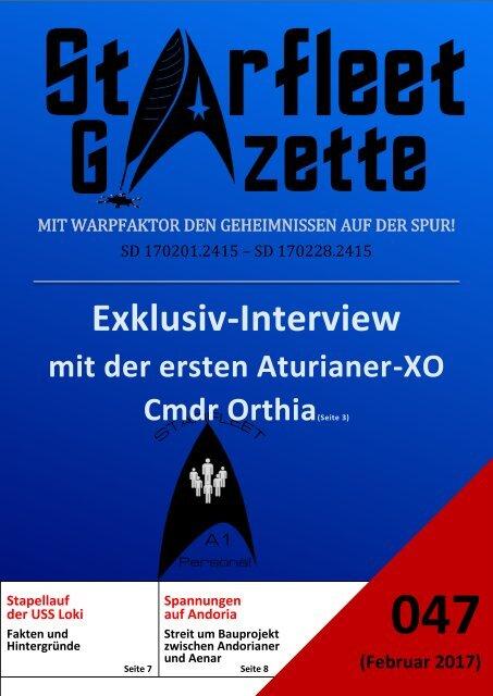 Starfleet-Gazette, Ausgabe 047 (Februar 2017)