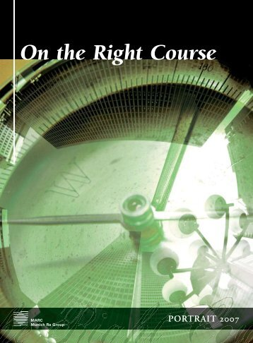 On the Right Course - Munich American Reassurance Company