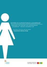 WOMEN IN HUMANITARIAN LEADERSHIP