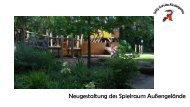 Willy Schulte Kindergarten Projekt Außengelände