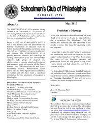 F o u n d e d   1 9 0 2 May 2010 About Us President's Message