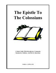The Epistle To The Colossians - Executable Outlines