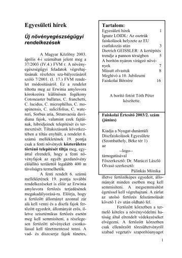 10. Jubileumi Faiskolai Börzére - Nyugat-Dunántúli Díszfaiskolások ...