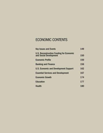 CONTENTS ECONOMIC CONTENTS