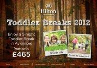 Enjoy a 5 night Toddler Break in Aviemore - Hilton Coylumbridge
