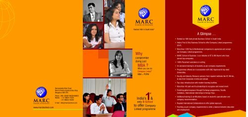 marc brochure - MARC B-School