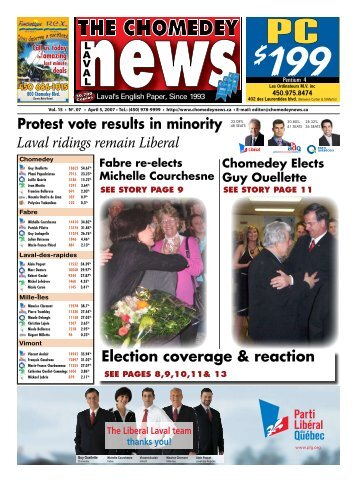 Laval ridings remain Liberal - Laval News