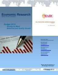 Budget 2013 - Malaysia International Islamic Financial Centre (MIFC)