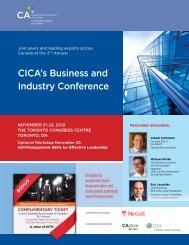 CICA's Business and Industry Conference - CICA Conferences ...