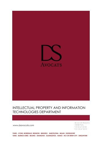 INTELLECTUAL PROPERTY AND INFORMATION ... - DS Avocats