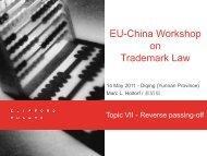 Gesetz gegen den unlauteren Wettbe- werb - eu-china ipr2