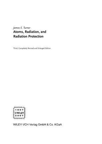 Atoms, Radiation, and Radiation Protection - Developers