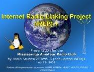(IRLP) + - The Mississauga Amateur Radio Club