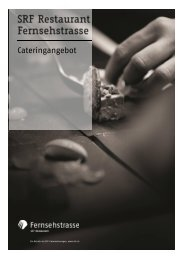 Cateringangebot - SRF Restaurant Fernsehstrasse - ZFV ...