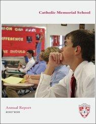 Catholic Memorial School Annual Report 2010-2011