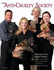 Education Issue Annual Report - The Anti-Cruelty Society