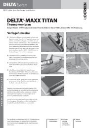 Verlegehinweise und Ausschreibungstexte DELTA®-MAXX TITAN ...