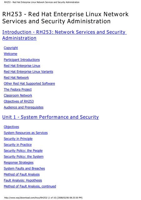 RH253 - Red Hat Enterprise Linux Network Services and