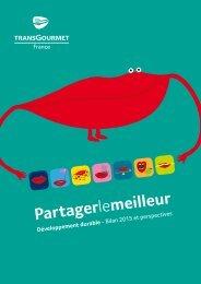Livret Développement Durable Transgourmet - Bilan 2015