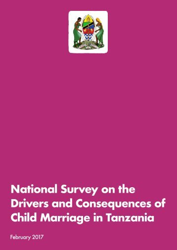 National Survey on the Drivers and Consequences of Child Marriage in Tanzania