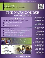 THE NAPA COURSE - Orthopedic Surgery Controversies 2012