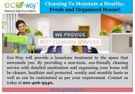 Home Cleaning Service In  Montclair |Eco-Way Cleaning & Organizing Solutions