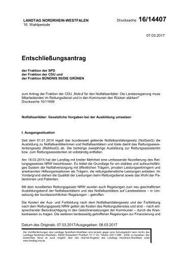Entschließungsantrag NFS Landtag NRW 2017-03-08 MMD16-14407