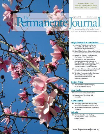 soul of the healer - The Permanente Journal