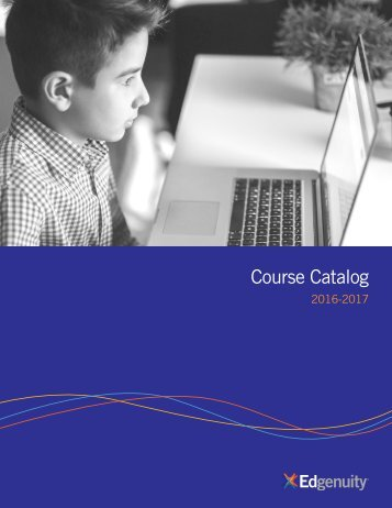 Edgenuity Course Catalog 2016-2017