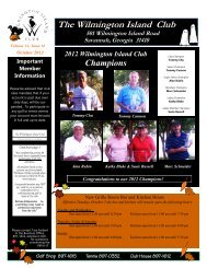 GOLF NEWS - The Wilmington Island Club