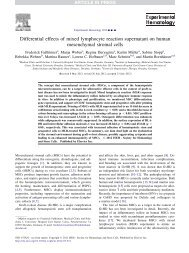Differential effects of mixed lymphocyte reaction ... - SkelMet